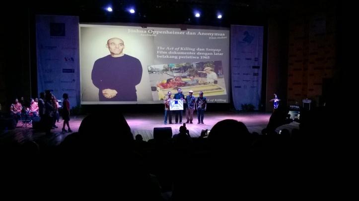 Joshua Oppenheimer pemenang Tasrif Award 2015
