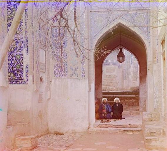 16-men-sitting-in-a-mosque-in-samarkand