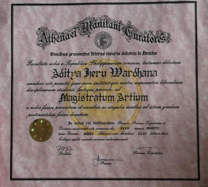 Ijazah Aditya Heru Wardhana